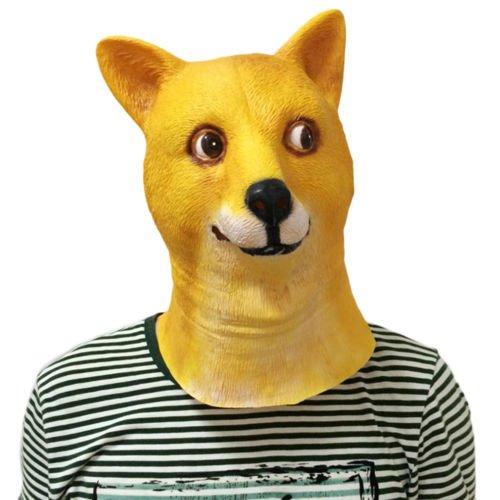 [USA Seller Halloween Mask Shiba Dog Full Head WOW Kabosu Party Prop Emoji Animal] (Goblin Costume Wow)