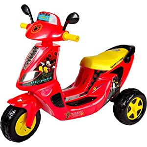 disney mickey mouse 6 volt 3 wheel scooter battery powered ride on stunt scooters. Black Bedroom Furniture Sets. Home Design Ideas