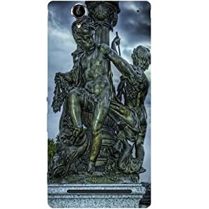 Casotec Sculpture Design Hard Back Case Cover for Sony Xperia T2 Ultra