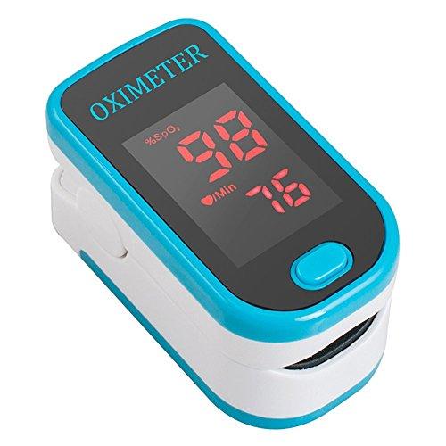 ConPush Bewegliche LED Finger Oximeter SpO2 Pulsoximeter Herzfrequenzmesser Impuls Monitor