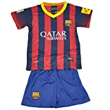 CMMY Kinder Jungen Fußball Barcelona World Cup Shorts Sets Tops Hosen Gr.134-146