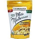Sun-Dried White Mulberries ~ USDA Organic ~ Immortalitea ~ 10 oz