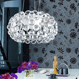 Lotus Glass Chandelier Restaurant Lamp Pendant Lights Dining Room Lights Mo