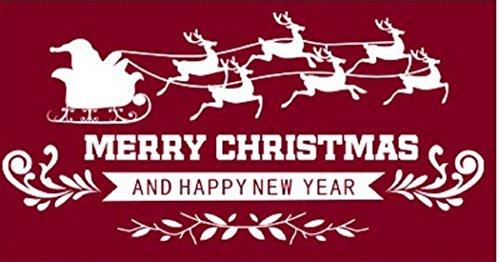 (エイチケーエイチ) HKH クリスマス ステッカー 飾り シール パーティー ツリー サンタ ト ナカイ ウォール インテリア 窓 1 (①)