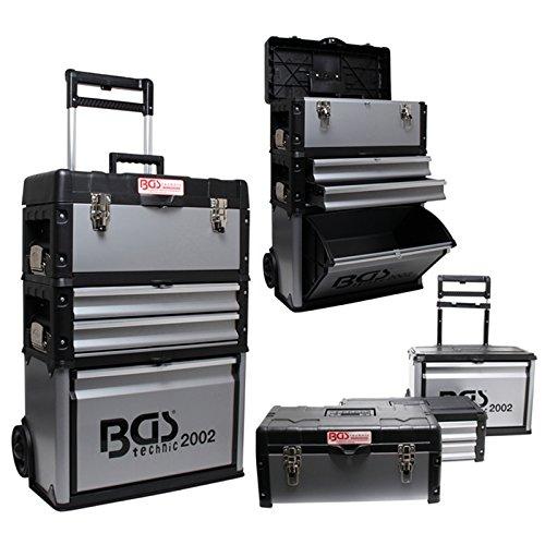 BGS-Montagewagen-Trolley-aus-Alu-mit-Schublade-und-Box-abnehmbare-Elemente