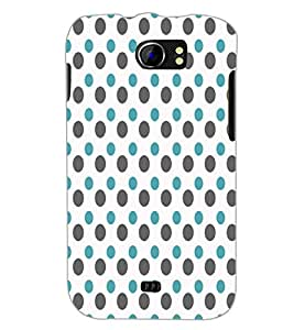 PrintDhaba Dot Pattern D-5919 Back Case Cover for MICROMAX A110Q CANVAS 2 PLUS (Multi-Coloured)