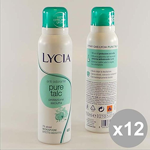 Set 12 LYCIA Deodorante Spray 150 Talco Deodoranti per il corpo
