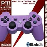 ワイヤレスコントローラー【パープル(紫色)】PS3用 DUALSHOCK3互換 サードパーティ製