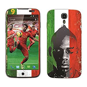 Bluegape Xolo Q2500 Mario Balotelli Football Player Mobile Skin Cover, Multicolor