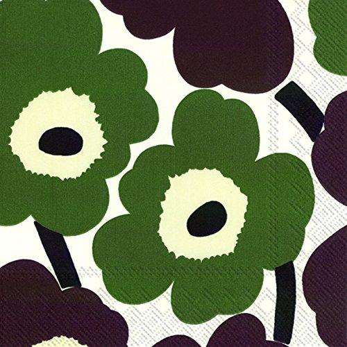 marimekko-unikko-etui-a-rabat-pour-finlandais-marron-floral-vert-big-sixties-de-luxe-traditionnel-lo
