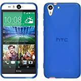 Silicone Case for HTC Desire Eye - X-Style blue - Cover PhoneNatic + protective foils