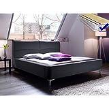 Polsterbett Cloude Bett 160x200 cm + Lattenrost + Matratze anthrazit Doppelbett Designerbett Schlafzimmer