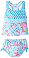 i play. Baby Girls' Ultimate Swim Diaper 2 Piece Tankini Set UPF 50+