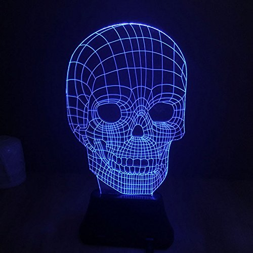 Skull Illusion 3D LED Night Light