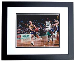 Detlef Schrempf Autographed Hand Signed 8x10 Indiana Pacers Photo - BLACK CUSTOM... by Real+Deal+Memorabilia
