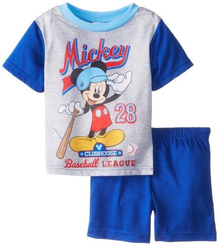Ame Sleepwear Little Boys' Mickey Mouse Baseball Pajama Short Set, Assorted, 2T front-558482