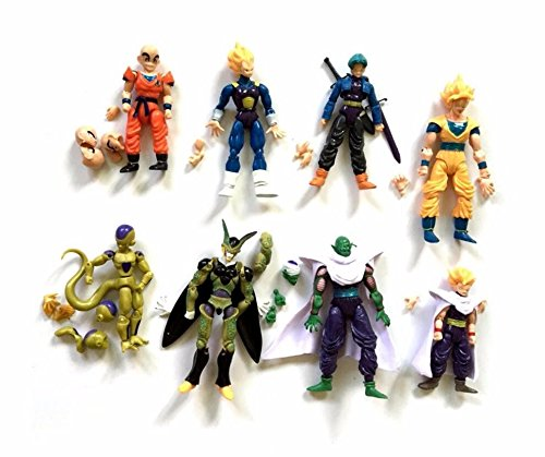 New Lot 8pcs dragon ball z action figures Dragonball Z Goku DBZ Anime Vegeta Kid Toy (Dbz Figure Lot compare prices)