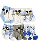 Mickey Mouse Mice & Stripes 6-Pack Crew Socks