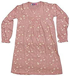 Noisy Rock Kids Frocks (NR0031, Pink, 5-6 Years)