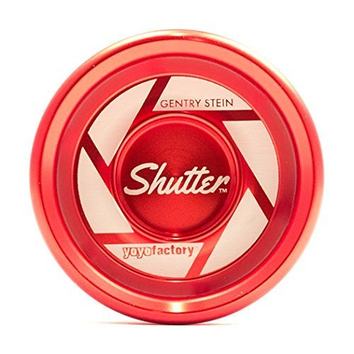 AUTHENTIC RED Shutter Yoyo in Hard Plastic Case by YoYoFactory by YoYoFactory Shutter