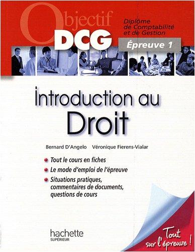Objectif Dcg Introduction au Droit