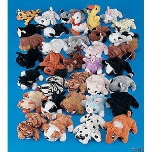 Plush-Mini-Bean-Bag-Animal-Assortment-50-Pieces