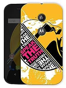 "Speak The Truth Printed Designer Mobile Back Cover For ""Motorola Moto E2"" By Humor Gang (3D, Matte Finish, Premium Quality, Protective Snap On Slim Hard Phone Case, Multi Color)"
