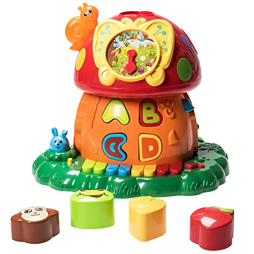 Prextex-Christmas-Toy-Gift-Electronic-Magic-Mushroom-House-A-Fun-and-Educational-Activity-Center-Toy-for-Infants-and-Toddlers-with-Lights-Sounds-and-Action-Best-Christmas-Gift