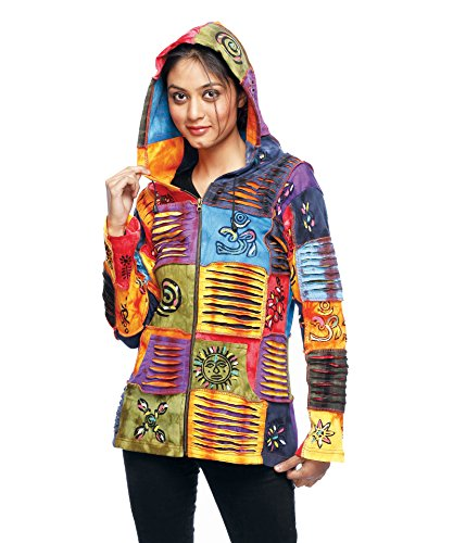 Rising International Inc Womens Tie Die Colorful Jacket M Multi Color