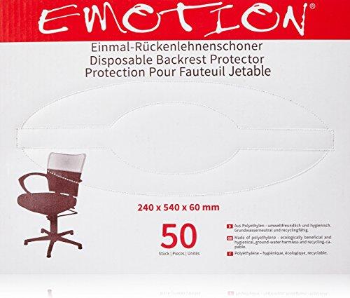 Efalock - Protezione monouso per schienale poltrona Emotion, 2 confezioni da 50 pz