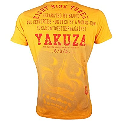 Yakuza T-Shirt Herren Round Neck TSB 611 Yakuza Brotherhood of the East Artisans Gold