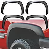 OxGord Fender Flares 4pc Set Chevrolet Silverado 1500 Fits Years 1999 2000 2001 2002 2003 2004 2005 2006 2007 + 01-06 1500HD, 99-04 2500 + 01-07 2500HD, 01-07 3500 [Chevy Avalanche 1500/2500 02-06] [Chevy Suburban 1500/2500 00-06 ] [GMC Sierra 99-06 1500 + 01-06 1500HD,99-04 2500 + 01-06 2500HD, 01-06 3500] [GMC Yukon XL 1500/2500 00-06] thumbnail