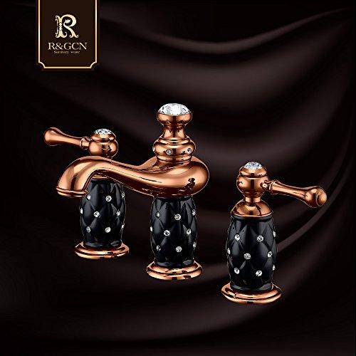 mlxxlmm-antique-rose-gold-diamond-grifo-de-tres-orificios-de-pintura