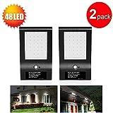 GRDE® 850 Lumens 48 LED Solar Security Light, Waterproof Solar Motion Sensor Light, Outdoor Wall Light for Garden, Porch, Pathway (2)