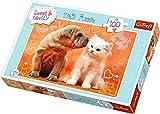 Trefl - 16264 - Puzzle - dulces y encantadores - guiños y besos - 100 Piezas