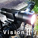70% OFF One Week Only! Vision II® Lifetime Warranty - 860 Lumen USB Bike Light - FREE Extra Battery, Carrying Bag - Fits All Bikes, Easy Install (No Tools), Quick Release, Water-Resistant - No Bulky Battery & Wires - Limited Time Offer - Try RISK-FREE!