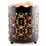 Crystal Decor Natural Himalayan Salt Lamp with Salt Chunks in Cylinder Design Metal Basket and Dimmable Cord - Flanigan Design