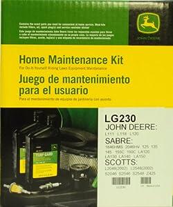 John Deere Genuine LG230 Home Maintenance Kit for JOHN DEERE: L111 L118 L120 SABRE: 1846HMS 2046HV 125 135 145 155C 190C LA120 LA130 LA140 LA150 SCOTTS: L2048(2002) L2548(2002) S2046 S2546 S2548 Z425 from John Deere