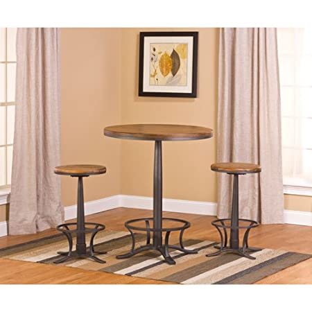 Hillsdale Westview Bar Height 3 Piece Bistro Set with Rivage Stools