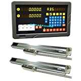 2 Axis DRO Digital Readout Mill Pacakage Linear Glass Scale 0.0002