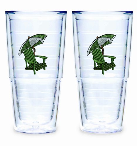 Tervis Tumbler Green Adirondack Chair 24-Ounce Double Wall Insulated Tumbler, Set of 2