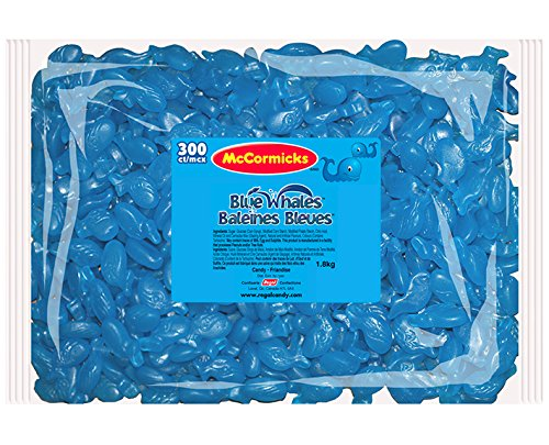 McCormicks Blue Whales Gummy Candy, 300 Count (Blue Gummy Fish compare prices)