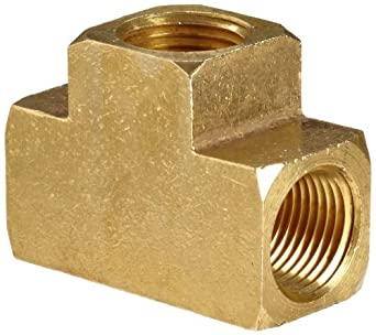 Anderson Metals Brass Barstock Pipe Fitting, Tee, NPT Female