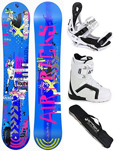 AIRTRACKS DAMEN SNOWBOARD KOMPLETT SET / BOARD BLUEBIRD REVERSE ROCKER + BINDUNG SAVAGE W + BOOTS + SB BAG / 145 151 155 / cm