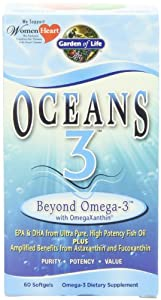 Garden of Life Oceans 3 - Beyond Omega 3, 60 Softgels
