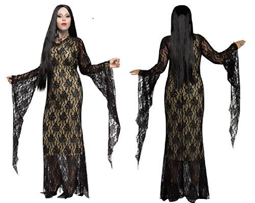 Adult Morticia Adams Miss Darkness Costume - Plus (18-20) (Morticia Adams Costumes)