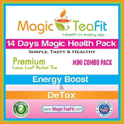 Magic Teafit Weight Loss Tea, Body Cleanse And Appetite Control 14 Days Magic Health Pack - Energy Boost Teatox & Detox Tea