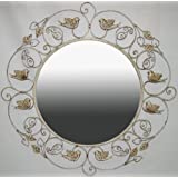 Ashton Sutton Mirror With Cream Finish And Birds