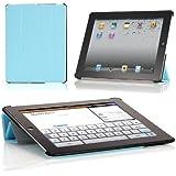 Poetic SLIMLINE Portfolio Case for Apple iPad 4 / iPad 3/ iPad 2 Navy Blue (Auto Sleep/Wake Function)(3 Year Manufacturer Warranty From Poetic)