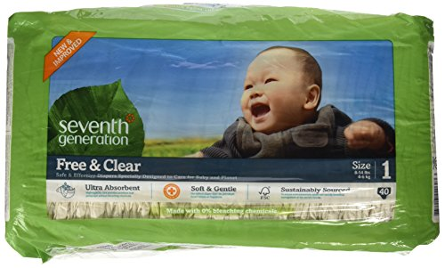 Seventh Generation Free & Clear Diapers - Size 1 - 40 ct - 1